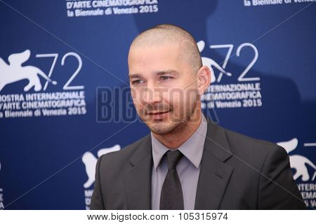 Shia LaBeouf attends a photocall for 'Man Down' during the 72nd Venice Film Festival at on September 6, 2015 in Venice, Italy.