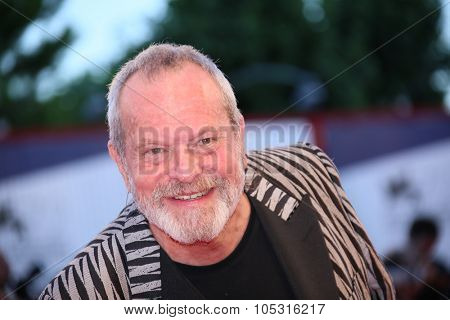 Terry Gilliam attends a premiere for 'A Bigger Splash' during the 72nd Venice Film Festival at Sala Grande on September 6, 2015 in Venice, Italy.