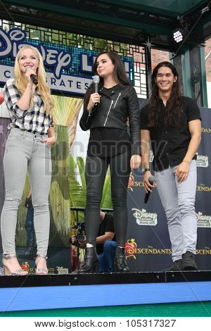 LOS ANGELES - OCT 17:  Dove Cameron, Sofia Carson, Booboo Stewart at the Stars of