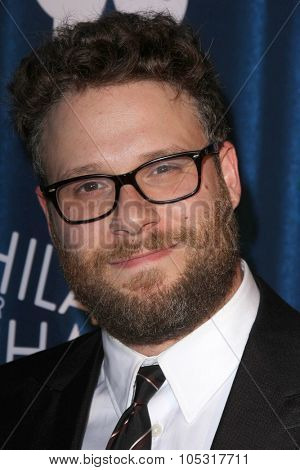 LOS ANGELES - OCT 17:  Seth Rogen at the Hilarity for Charity`s James Franco`s Bar Mitzvah at the Hollywood Paladium on October 17, 2015 in Los Angeles, CA