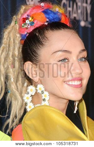 LOS ANGELES - OCT 17:  Miley Cyrus at the Hilarity for Charity`s James Franco`s Bar Mitzvah at the Hollywood Paladium on October 17, 2015 in Los Angeles, CA