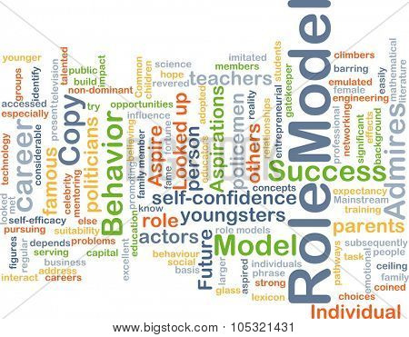 Background concept wordcloud illustration of role model