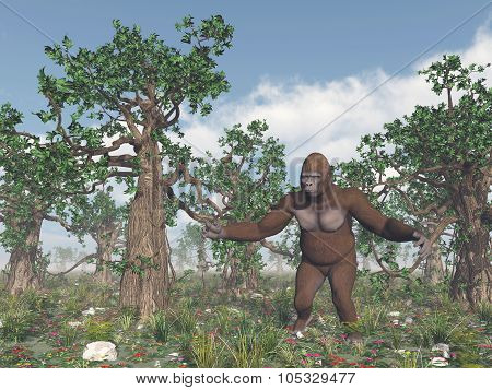 Bigfoot in the wild