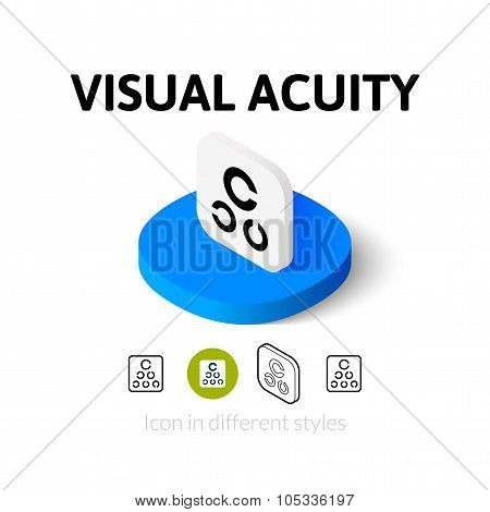 Visual acuity icon in different style