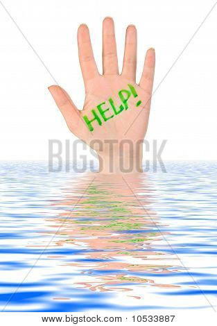 Hand Help In Water