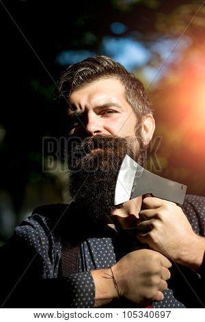 Guy Holding Axe