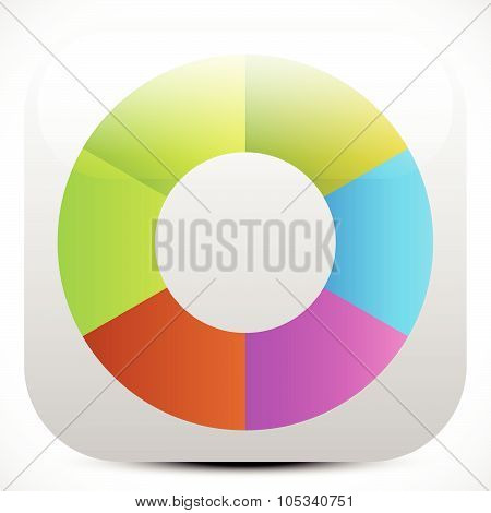 Colorful Icon, Color Wheel, Color Palette Graphics. Editable Vector