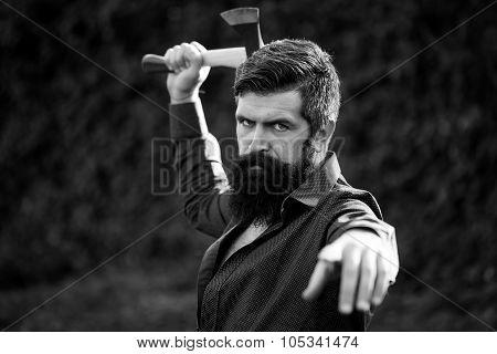 Man With Sharp Axe