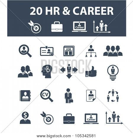 hr, career, job, cv, employment icons