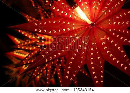 Beautiful Traditional Lanterns Lit On The Occassion Of Diwali Festival In India.