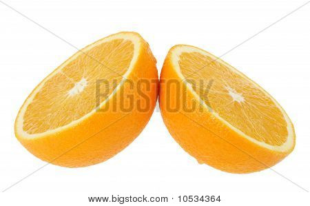 Two Cross Section Of Orange