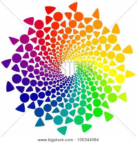Color Wheel with circles and triangles