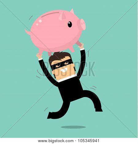 Thief stealing money