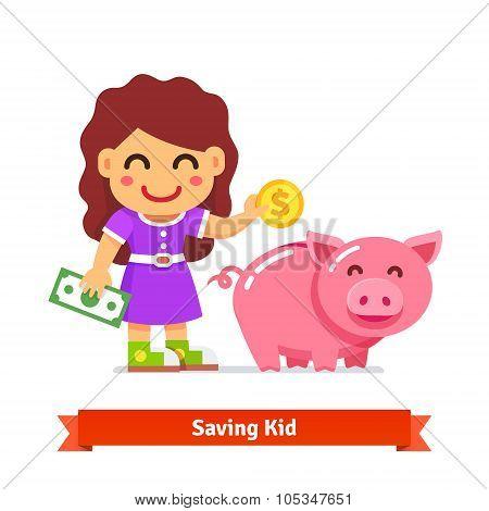 Children finances and savings concept