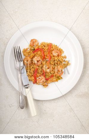 Mixed Pepper Rice With Scampi