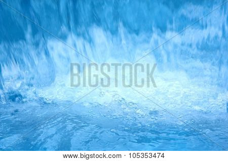 Flowing Blue Water