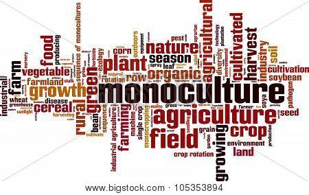 Monoculture Word Cloud