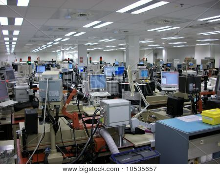 Quality Control Room In A Factory