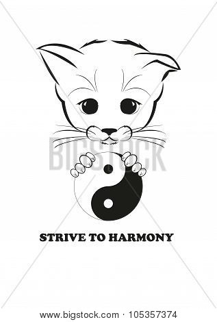 Boso with yin and yang. Strive to harmony