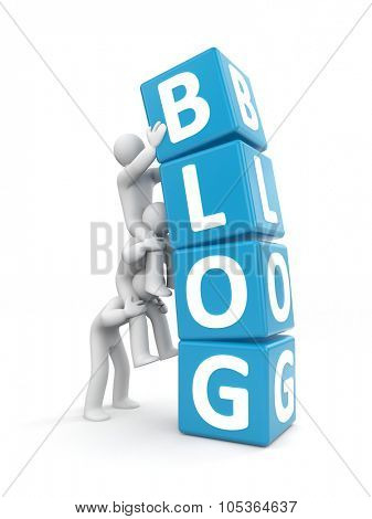 The team maintains a blog - metaphor
