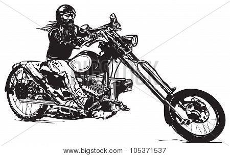 An Black Rider, An Hand Drawn Vector, Freehand