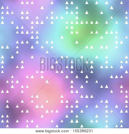 Seamless Pattern Or Background With Triangle Motif