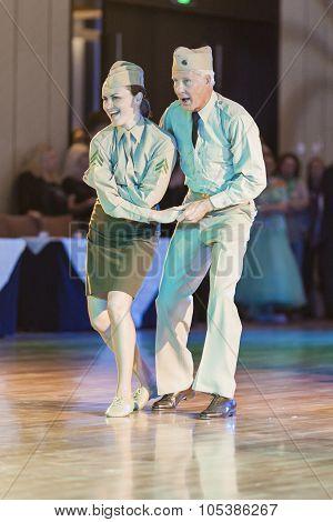 Minsk, Belarus - September 26, 2015: John Gusenhoffer And Irina Lobanova (usa) Perform Pro-am Show C