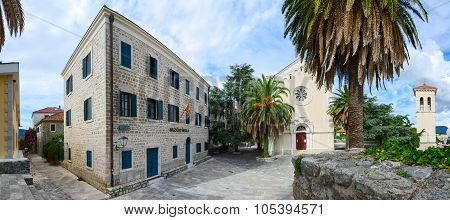 Music School, Church Of St. Jerome And Bell Tower, Herceg Novi, Montenegro