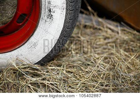 Whitewall Car Tire