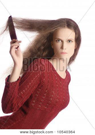 Combing Long Hair