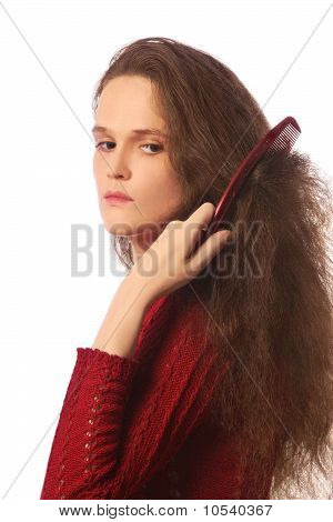 Woman With Comb
