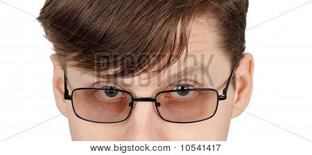 Eyes Of Man With Glasses