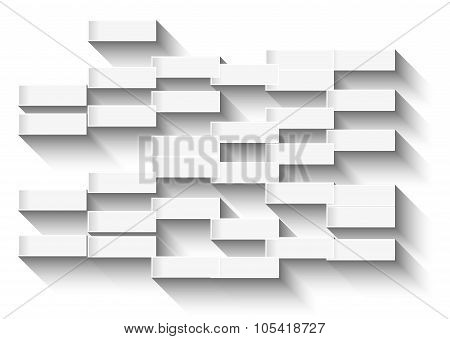 Abstract White Background With Glowing Rectangles For Business Cards Or Covers