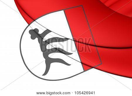 Flag Of Goppingen City (baden-wurttemberg), Germany.