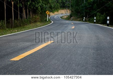 Winding Road in Thailand