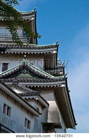 An Abstract Side View Of Wakayama Castle, Japan