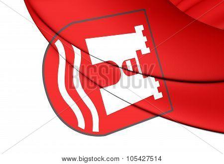 Flag Of Linz (upper Austria), Austria.