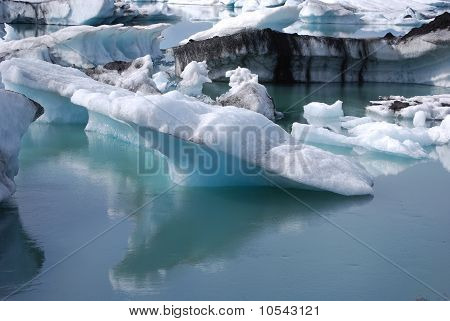 Icebergs floating in Glacial Lagoon