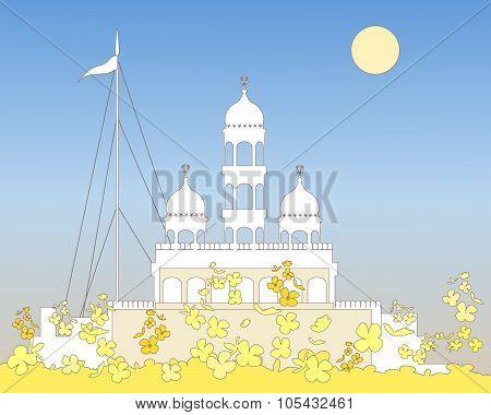 White Gurdwara