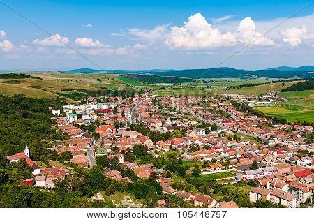 Village in valley, Transylvania, Romania