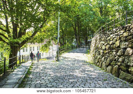 Street  in old centre of Stavanger.