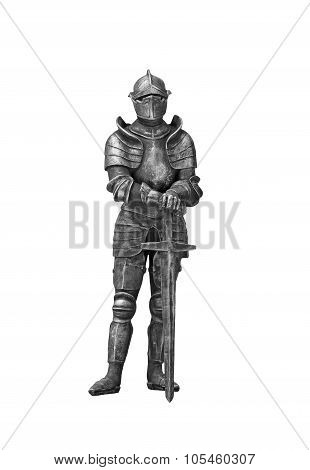 The Knight In Armor With The Sword.