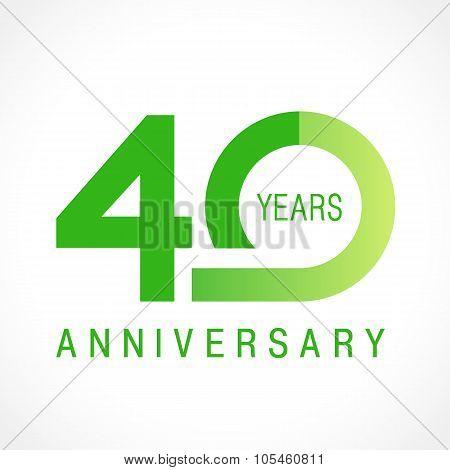 40 anniversary classic logo.