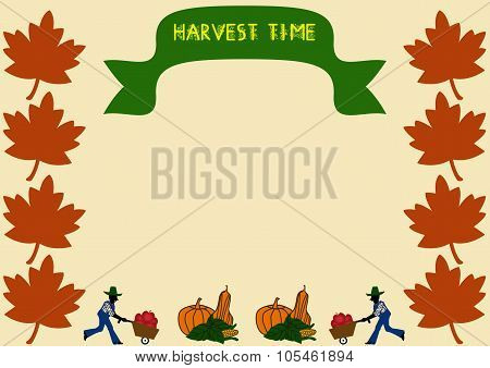Harvest Tme Border With Banner