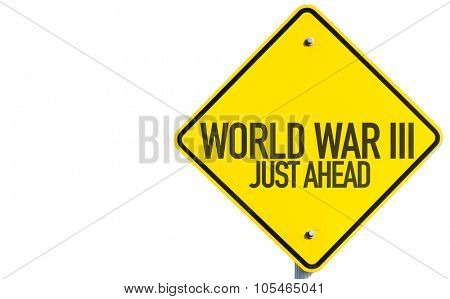 World War lll sign isolated on white background
