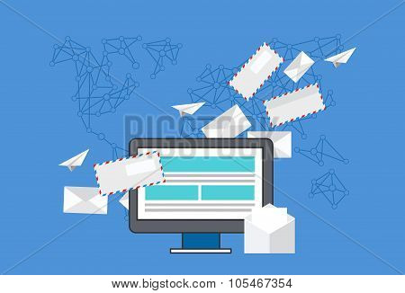 Vector modern flat design of email marketing.