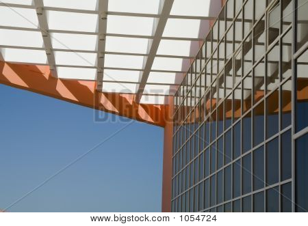 Wall Of Office Building.