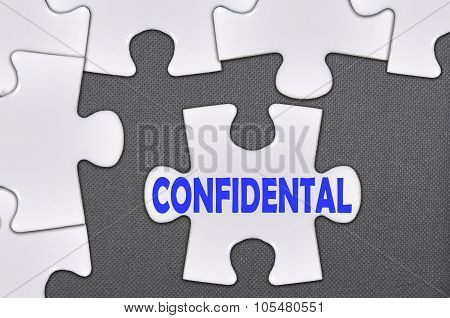 Jigsaw Puzzle Written Word Confidental
