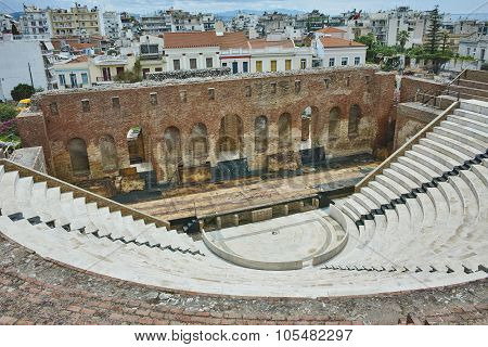 ancient ruins of Roman Odeon, Patras, Peloponnese