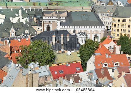 Bird eye view of Riga